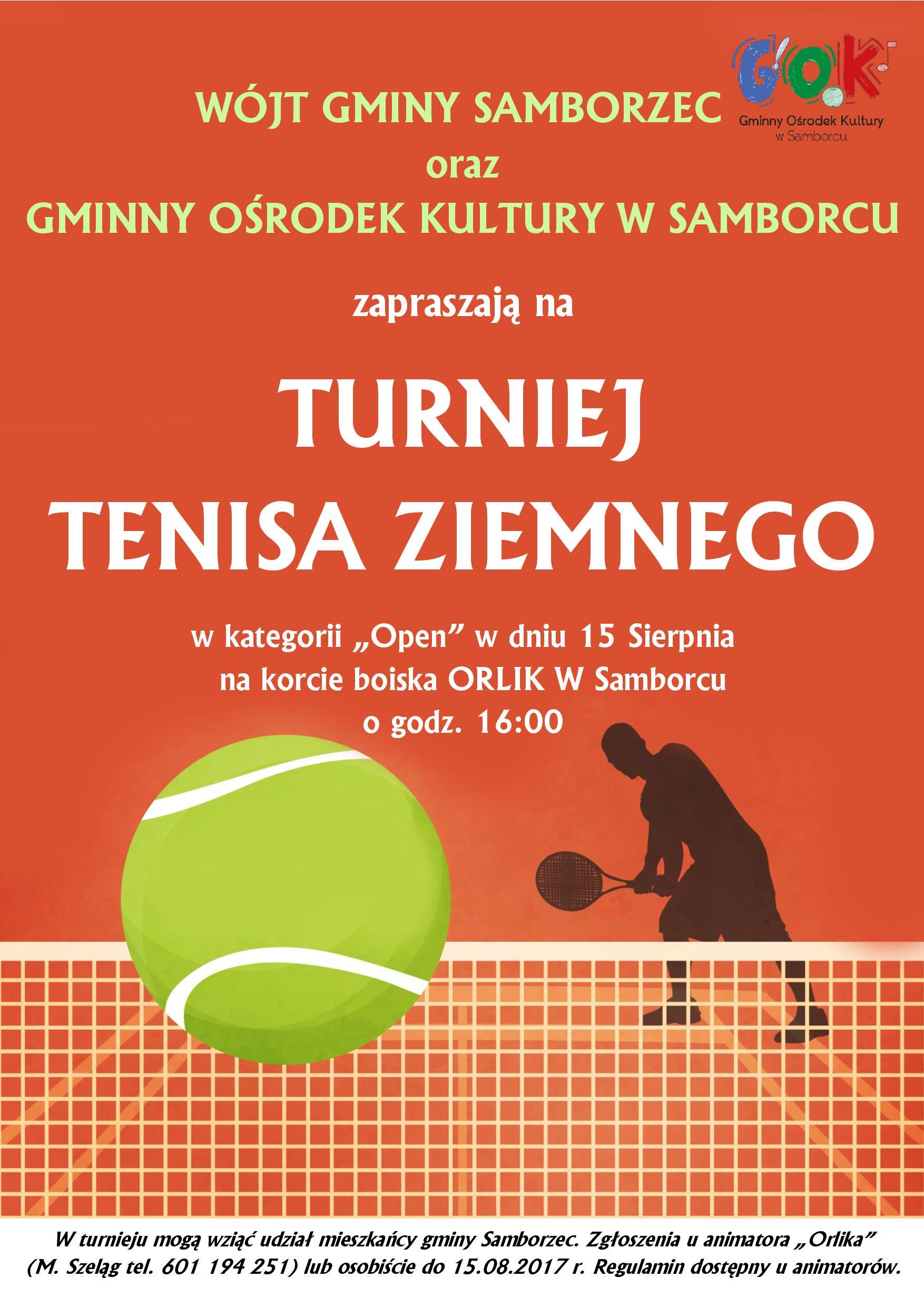 Turniej Tenisa - plakat